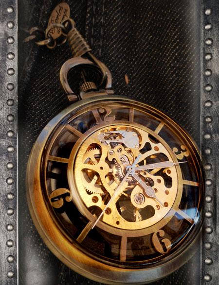 Bien connu Montre gousset homme Orion Bronze - belle montre squelette de  DK09