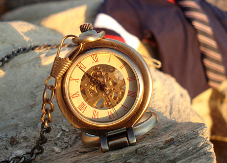 Nostalgie montre de poche montre pendentif objet de d coration m canique squelette for Montre decoration