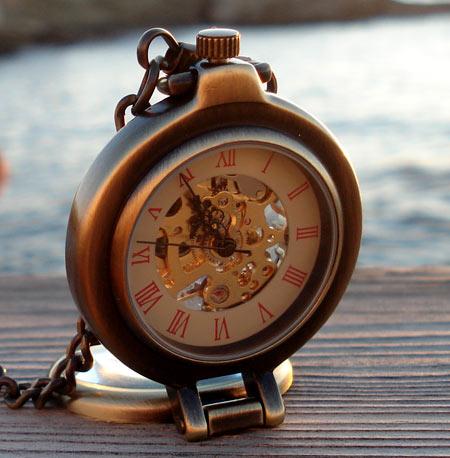 Nosnostalgie montre de poche montre pendentif objet de d coration m canique squelette for Montre decoration