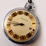 montre de poche fabriquée en Russie , montre gousset, montre a remontage manuel, montre authentique